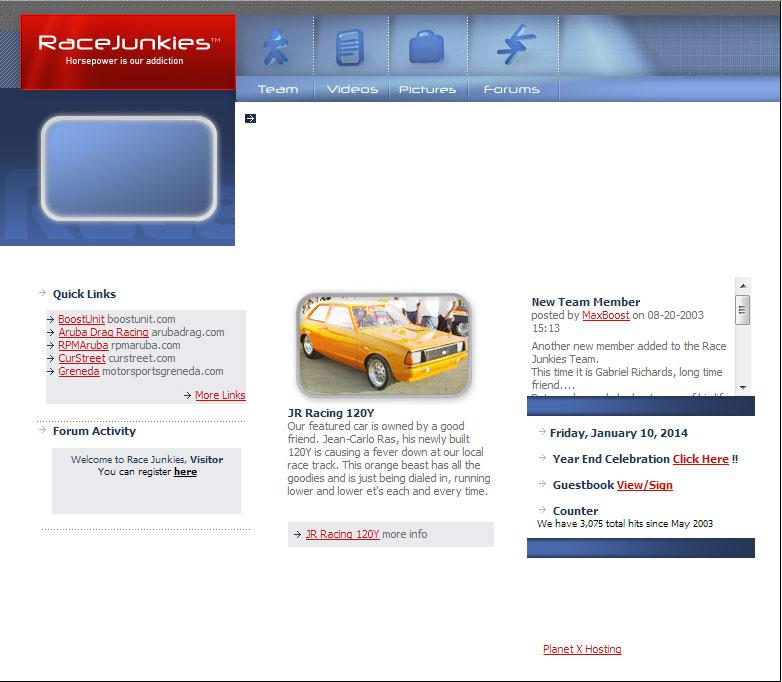 RaceJunkies.com way back in 2004.