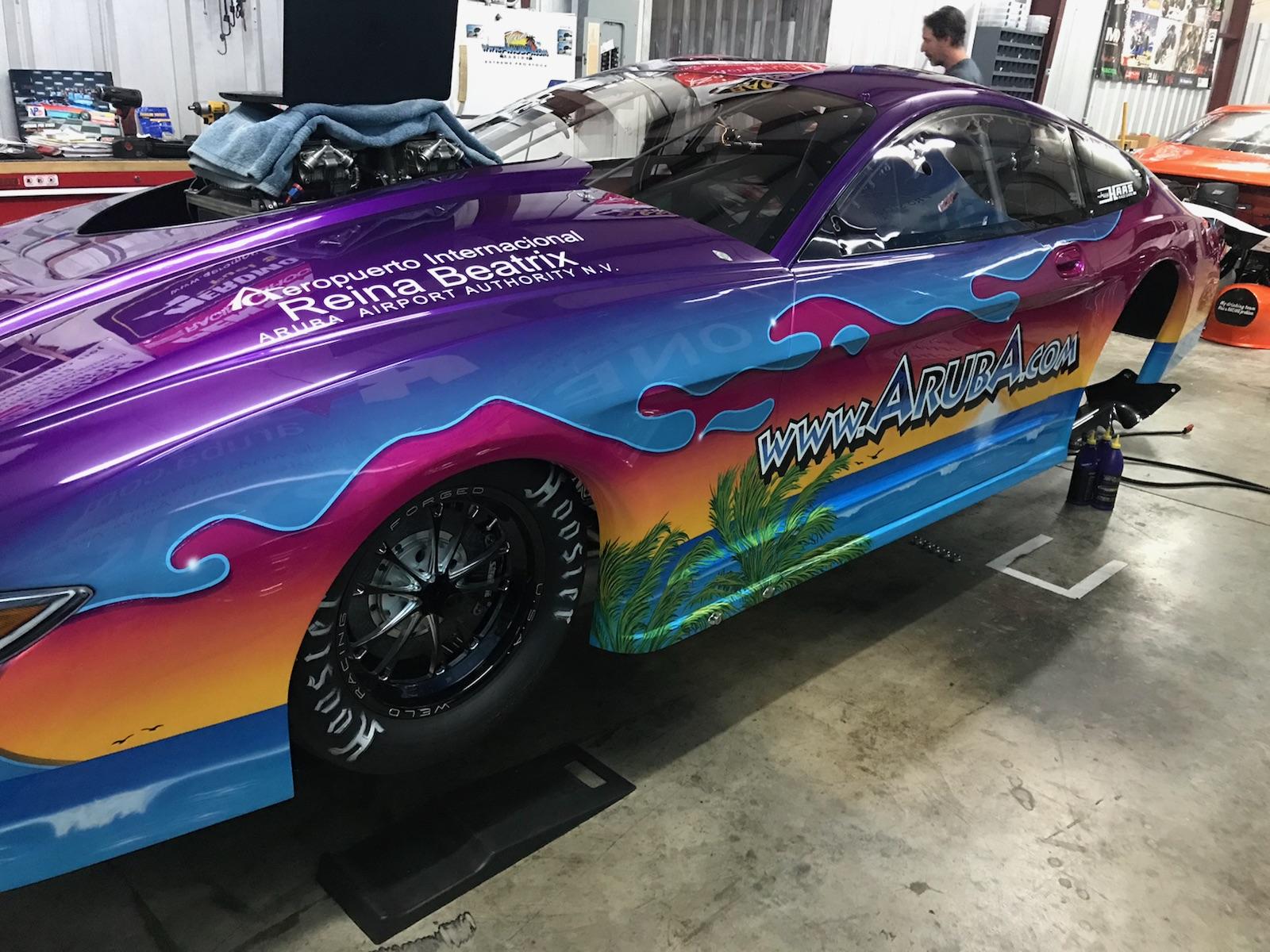 Team Aruba debuts new car at U.S. Nationals MMPS invitational