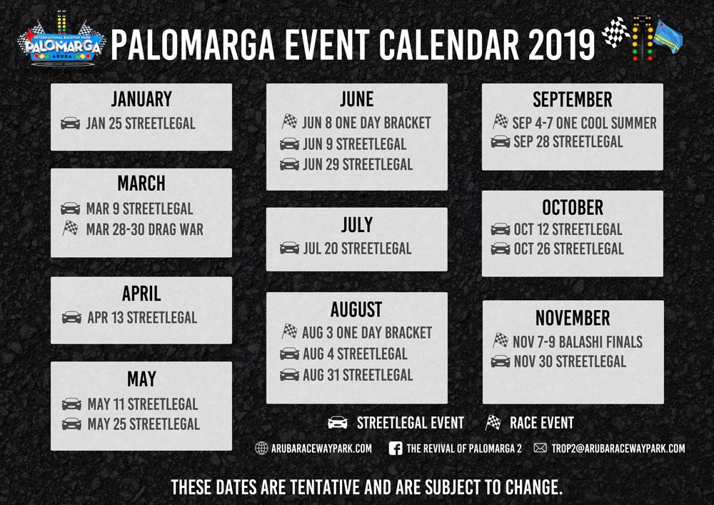 Palomarga 2019 Schedule