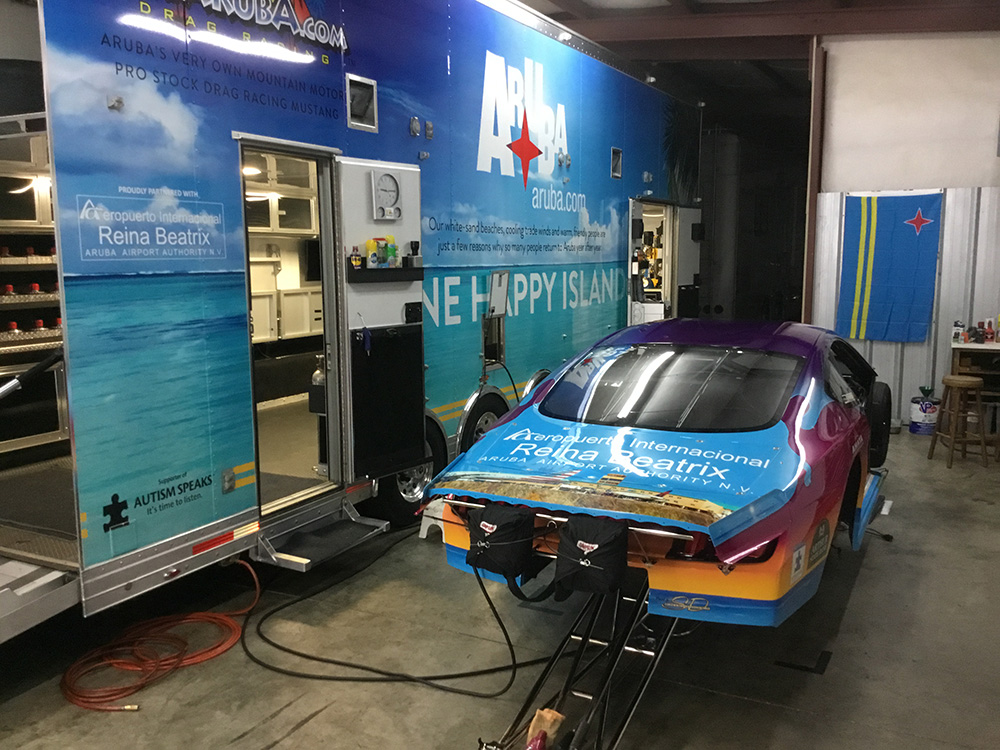 Team Aruba prepares for 2019 debut at NHRA Four-Wide Nationals